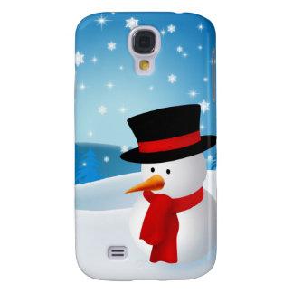 Cute Snowman Galaxy S4 Cover