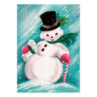 Cute Snowman Girl Large Business Card