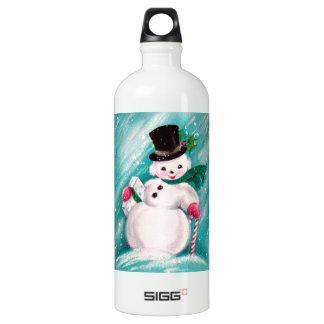 Cute Snowman Girl SIGG Traveler 1.0L Water Bottle