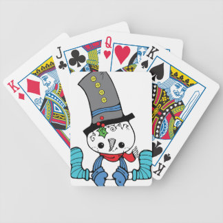 Cute Snowman Graphic Playing Cards