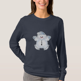 Cute Snowman in Ice Skates T-Shirt