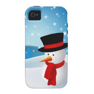 Cute Snowman iPhone 4 Case
