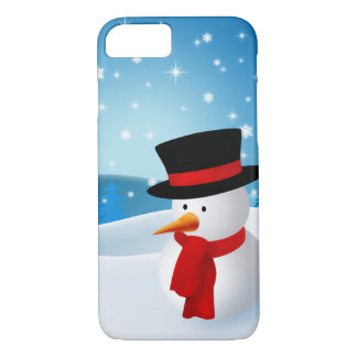 Cute Snowman iPhone 8/7 Case