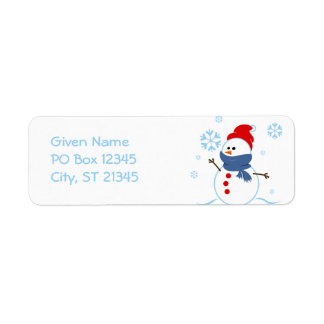 Cute Snowman Custom Return Address Label