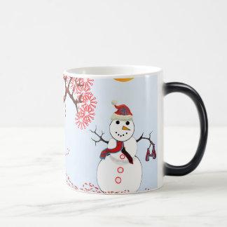 Cute Snowman Magic Mug