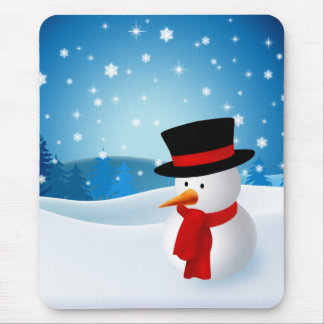 Cute Snowman Mousepad