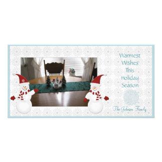 Cute Snowman Photocard Card