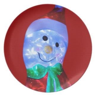 Cute Snowman Plate