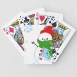 Cute Snowman Playing Cards