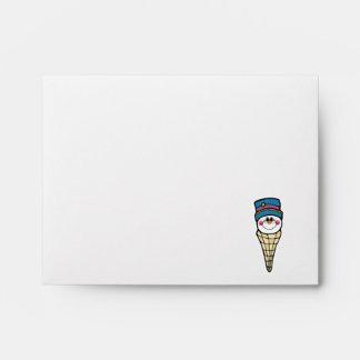 cute snowman snowcone envelope