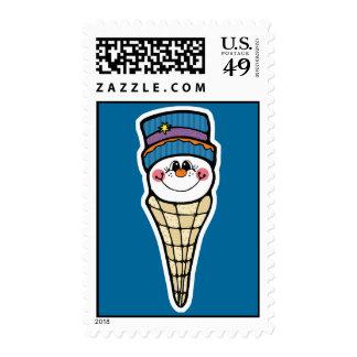 cute snowman snowcone stamp