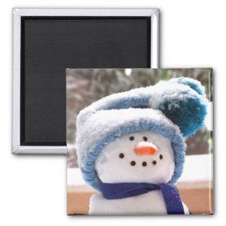 Cute Snowman Square Magnet