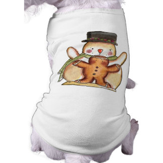 Cute Snowman Winter Dog Shirt, Christmas Shirt