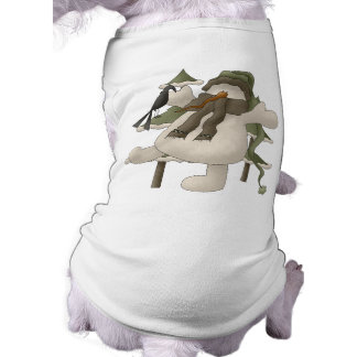 Cute Snowman Winter Dog Shirt, Christmas Tee