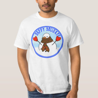 Cute Snowman With Extra Long Scarf T-Shirt
