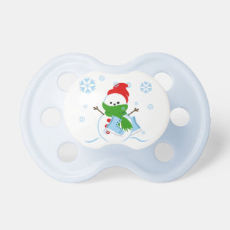 Cute Snowman with Ice Skates Pacifier