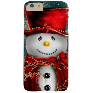 Cute snowmans - snowman illustration barely there iPhone 6 plus case