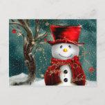 "Cute snowmans - snowman illustration postcard<br><div class=""desc"">happy christmas,  christmas tree,  merry christmas,  funny christmas,  christmas art,  xmas , winter,  holiday,  snowman cartoon,  cartoon snowman</div>"