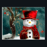 "Cute snowmans - snowman illustration postcard<br><div class=""desc"">""happy christmas"",  ""christmas tree"",  ""merry christmas"",  ""funny christmas"",  ""christmas art"", ""xmas , winter,  holiday"",  ""snowman  cartoon"",  ""cartoon snowman""</div>"