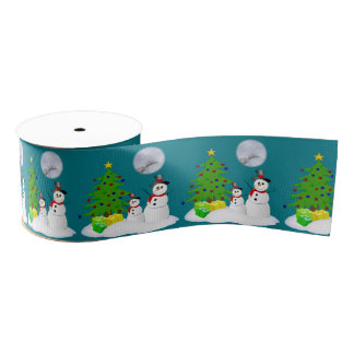 Cute Snowmen Grosgrain Ribbon