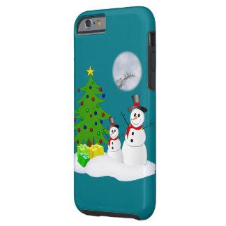 Cute Snowmen Tough iPhone 6 Case