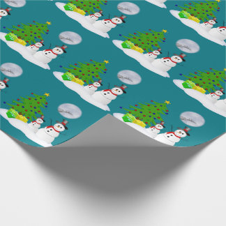Cute Snowmen Wrapping Paper