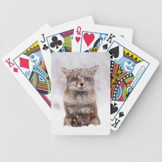 Cute Snowy Fox! Card Decks