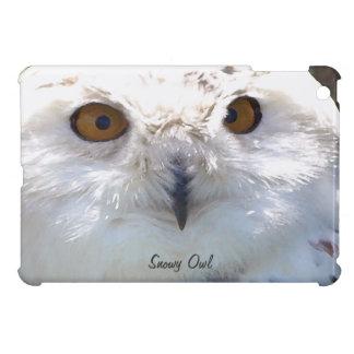 Cute Snowy Owl Eyes Wildlife Photo Cover For The iPad Mini