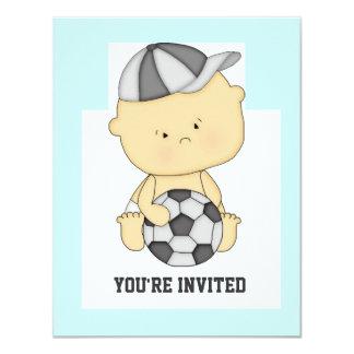 Cute Soccer Baby Shower Invitation
