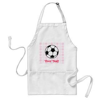 Cute Soccer Ball Adult Apron