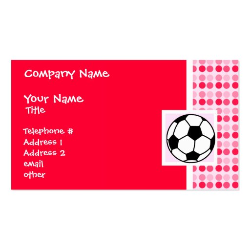 Cute Soccer Ball Double-Sided Standard Business Cards (Pack Of 100)