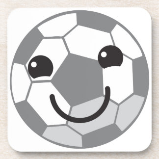 Cute Soccer ball football with a face Coaster