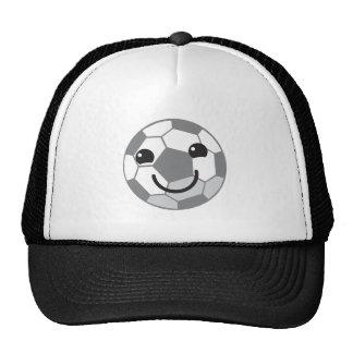 Cute Soccer ball football with a face Trucker Hat