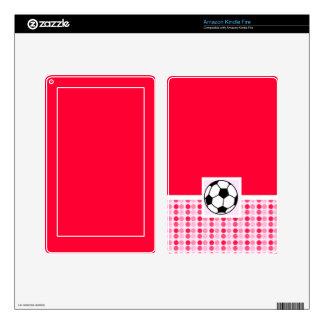 Cute Soccer Ball Kindle Fire Skin