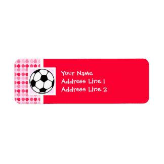 Cute Soccer Ball Labels