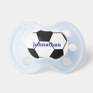Cute Soccer Ball Monogram Pacifier BooginHead Pacifier