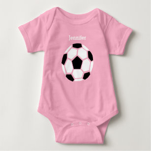 b8bd1ed4e Cute Soccer Ball Personalized Baby Sports Baby Bodysuit