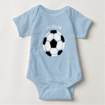 Cute Soccer Ball Personalized Baby Sports Baby Bodysuit