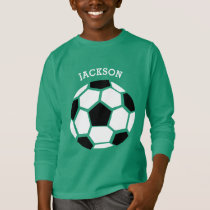 Cute Soccer Ball Personalized Kids Sports T-Shirt