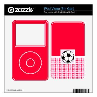 Cute Soccer Ball iPod Video 5G Decals
