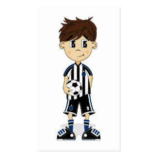 Cute Soccer Boy Bookmark Double-Sided Standard Business Cards (Pack Of 100)