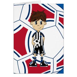 Cute Soccer Boy Card