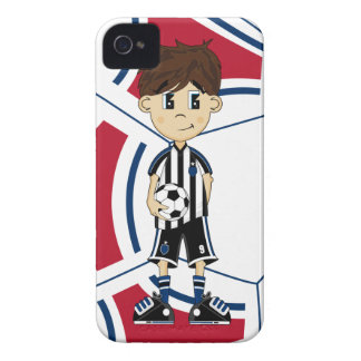 Cute Soccer Boy iphone Case