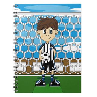 Cute Soccer Boy Notebook