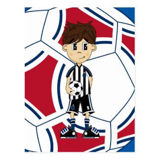 Cute Soccer Boy Postcard