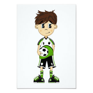 Cute Soccer Boy RSVP Card