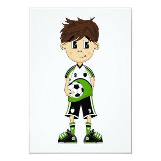 "Cute Soccer Boy RSVP Card 3.5"" X 5"" Invitation Card"