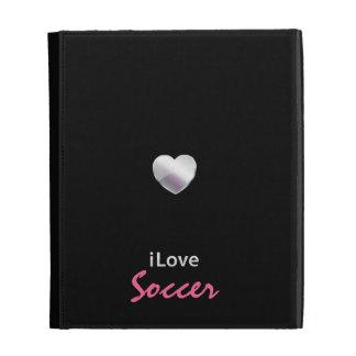 Cute Soccer iPad Folio Case