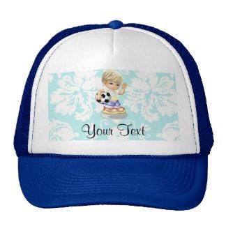 Cute Soccer; Damask Trucker Hat