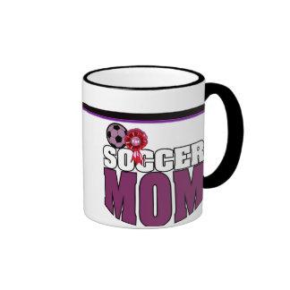 Cute Soccer Mom Logo & 1st Place Ribbon - Son Ringer Mug